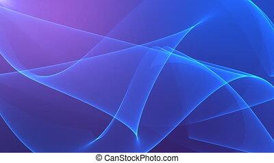 arrière-plan., soie, violet, résumé, fond, vagues, bleu