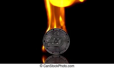 arrière-plan., tiret, isolé, noir, monnaie, brûler, mouvement, 250fps., lent, prises