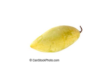 arrière-plan., unique, mangue, blanc, jaune