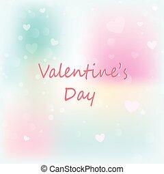 arrière-plan., valentin, bokeh, valentines, fond, jour, résumé, cœurs