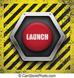 arrière-plan., vecteur, eps10, button., lancement