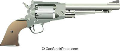 arrière-plan., vecteur, isolé, illustration, revolvers