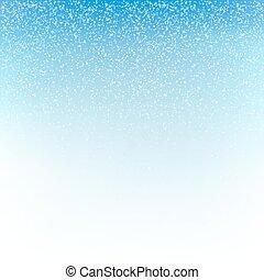 arrière-plan., vecteur, noël, chute neige, illustration.