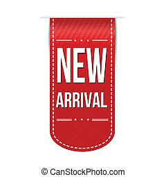arrivée, nouveau, conception, bannière