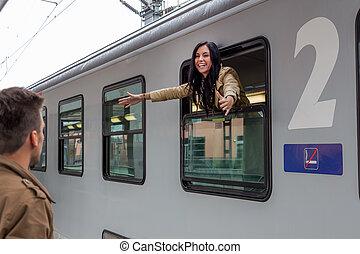 arrivée, train