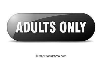 arrondi, sticker., verre, seulement adultes, button., signe, banner.