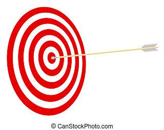 arrow., cible