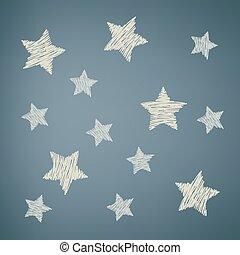 art, étoiles, fond