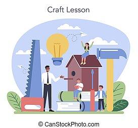 art, étudiant, tools., tenue, apprentissage, eduquer enseignant, education.