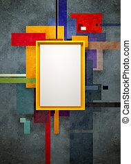 art abstrait, musée, composition
