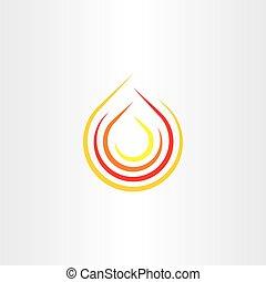 art, agrafe, brûler, symbole, vecteur, flamme, logo, icône