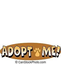 art, agrafe, chouchou, chien, signe, adoption