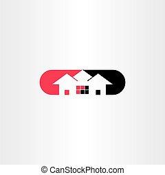 art, agrafe, maison, symbole, logo, icône