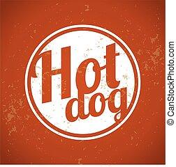 art, agrafe, vendange, -, chien, chaud
