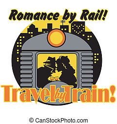 art, agrafe, vendange, signe, train, retro
