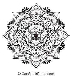 art ancien, image, traditionnel, vecteur, conception, fleur, thaï