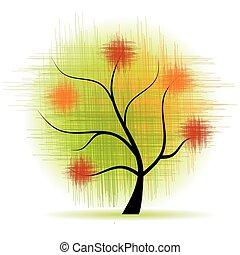 art, arbre, beau