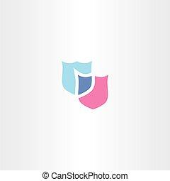 art, bouclier, agrafe, vecteur, logo, icône