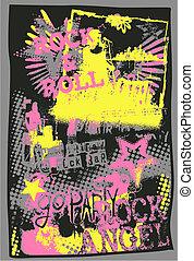 art graffiti, musique, pop
