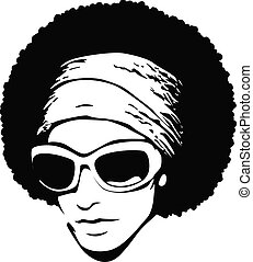 art, lunettes soleil, pop, afro