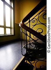 art, nouveaux, escalier