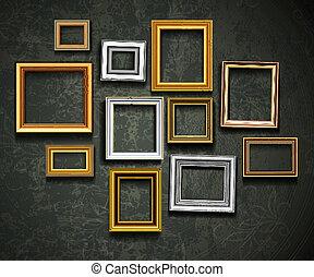 art, ph, vector., cadre graphique, gallery., photo