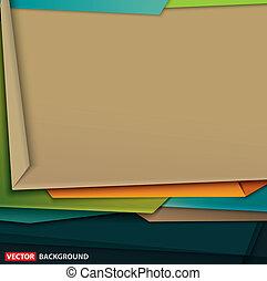 art, résumé, papier, conception, coloré