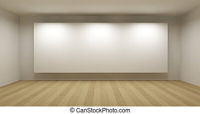 art, salle, cadre, concept, illustration, blanc, galerie, vide, 3d