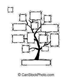 art, texte, arbre, ton, cadres, endroit, photo, ou