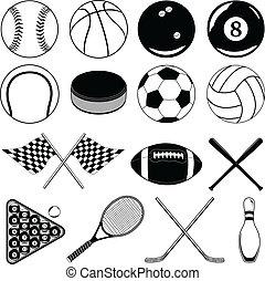 articles, balles, autre, sports