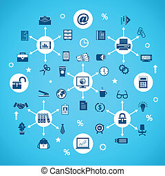articles, bureau affaires, réseau