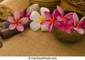 articles, installation, exotique, traditionnel, spa, fleur, masage, frangipanier