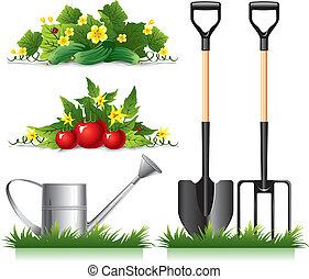 articles, jardinage, apparenté