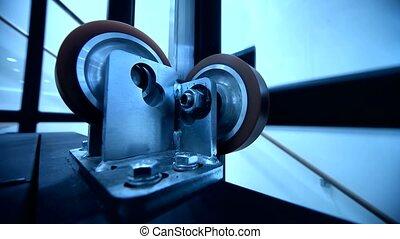 ascenseur, rouleau