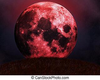 ascensions, rouges, lune