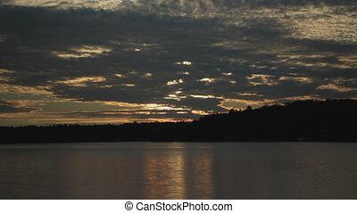 assombrissement, timelapse., sunset.