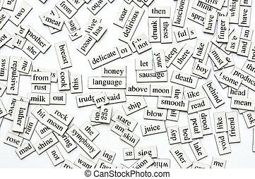 assorti, magnétique, mots