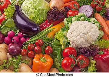 assortiment, légumes frais