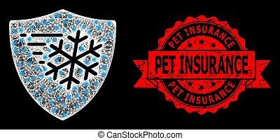 assurance, cachet, taches, protection, clair, réseau, chouchou, toile, grunge, gelée, lumière