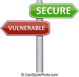 assurer, vulnérable
