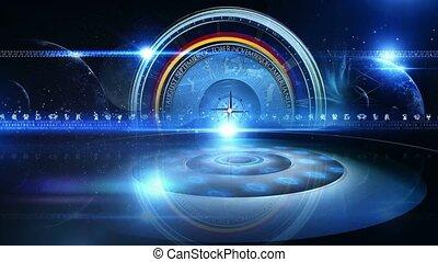 astrologie, virtuel, studio