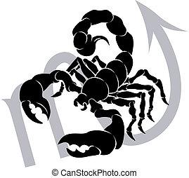 astrologie, zodiaque, signe, horoscope, scorpion