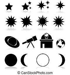 astromomie, icônes