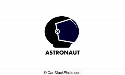 astronaute, casque, logo