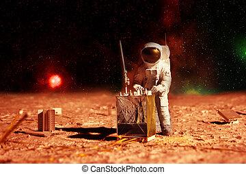 astronaute, mars