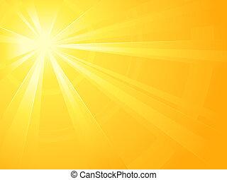 asymétrique, lumière soleil, éclater