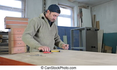 atelier, travail, fabricant, meubles