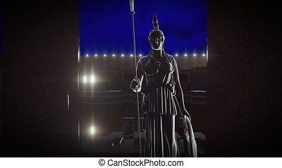 athene, statue