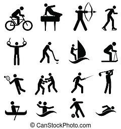 athlétique, icônes sports