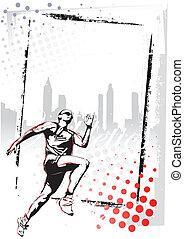 athlétisme, affiche